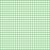 Seamless Gingham Background, Pastel Green Stock Photo