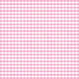 Seamless Gingham Background, Pastel Pink Stock Photography