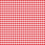 Seamless Gingham Background, Red Stock Photography