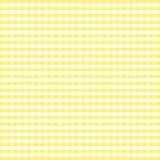 Seamless Gingham Background, Yellow Stock Photos