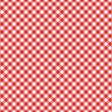 Seamless Gingham mönstrar Röd italiensk bordduk Vektor för picknicksagatorkduk stock illustrationer