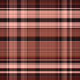 Seamless gingham pattern in pink and brown Stock Images
