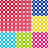 Seamless Gingham, Six colors Royalty Free Stock Photos