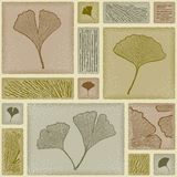 Seamless ginkgo pattern Stock Photo