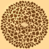 Seamless giraffe fur background Royalty Free Stock Images