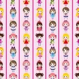 Seamless girl pattern Stock Image