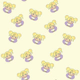 Seamless girl pattern Stock Images