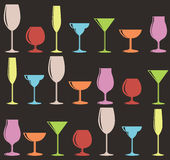 Seamless Glasses Pattern Stock Photo