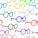 Seamless glasses pattern. Isolated illustration Royalty Free Stock Photo