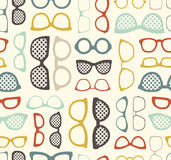 Seamless glasses pattern. With different styles Royalty Free Illustration