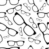 Seamless glasses pattern, eyeglasses Royalty Free Stock Images
