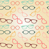 Seamless glasses pattern Royalty Free Stock Images