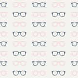 Seamless glasses pattern. Seamless pattern.Vector background. Retro stylish texture. Repeating glasses Royalty Free Stock Images