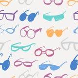 Seamless glasses pattern Stock Photo