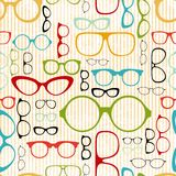 Seamless glasses pattern in vintage style Stock Images