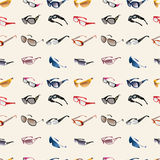 Seamless Glasses & Sunglasses pattern Royalty Free Stock Images