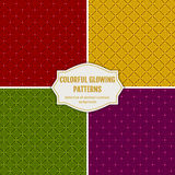 Seamless glowing patterns. Vector holiday backgrounds. Royalty Free Stock Photography