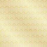Seamless gold Art Deco pattern background. Art Deco background wallpaper royalty free illustration