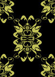 Seamless gold black baroque stock photography