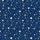 Seamless gold and blue glitter pattern.