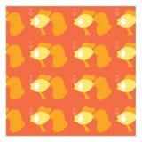 Seamless of gold fish Royalty Free Stock Photos