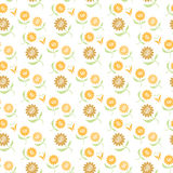 Seamless Gold Flower Pattern Stock Image