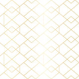 Seamless gold geometric pattern with line rhombus Stock Photos