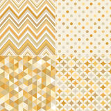 Seamless gold geometric tiles pattern Stock Photos