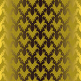 Seamless gold gothic pattern. Gothic seamless pattern on yellow background Royalty Free Stock Photo