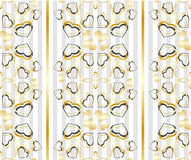 Seamless gold and gray pattern Stock Photos