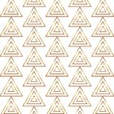 Seamless gold line geometric modern pattern. Background with triangles. Golden texture. stock illustration