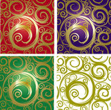 Seamless with gold ornament Royalty Free Stock Images