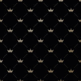 Seamless  gold pattern with king crowns Stock Images