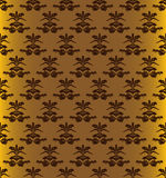 Seamless gold pattern. Retro-styled seamless pattern on gold background Royalty Free Stock Images