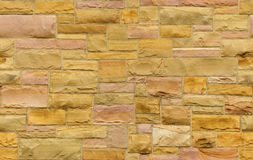 Seamless gold and pink masonry background Royalty Free Stock Image