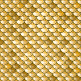 Seamless gold river fish scales. Seamless gold polygonal river fish scales. A sample of fish scales pattern for packaging design, corporate identity or tissue vector illustration