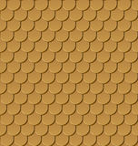 Seamless gold roof tiles royalty free illustration