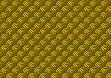 Seamless Gold Scales Pattern Stock Photo