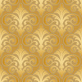 Seamless gold silk wallpaper pattern Stock Image