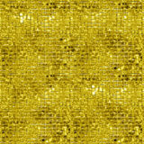 Seamless gold sparking and glittering mosaic background Stock Photos