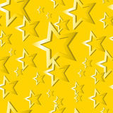 Seamless Gold Star Pattern Royalty Free Stock Image