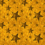 Seamless Gold Stars on Bright Gold Stock Photos