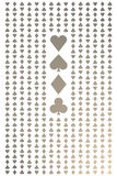Seamless gold and white playing cards pattern Stock Image