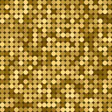 Seamless golden abstract pattern. Geometric print composed of circles on dark background. Gold. Seamless golden abstract pattern. Geometric print composed of Stock Images