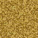 Seamless golden abstract pattern. Geometric print composed of small golden circles on dark background. Gold glitter. Seamless golden abstract pattern. Geometric vector illustration