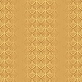 Seamless golden Art Deco shell pattern background. Seamless golden Art Deco shell feather leaf pattern background wallpaper Royalty Free Illustration