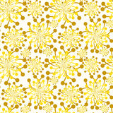 Seamless Golden Bouquets Fall Pattern Stock Images