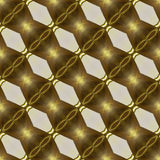 Seamless golden chain abstract pattern Royalty Free Stock Photos