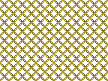 Seamless golden chain mail ring mesh pattern Stock Photography