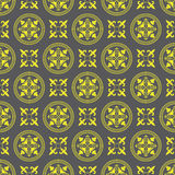 Seamless Golden Circle Pattern Background Royalty Free Stock Image